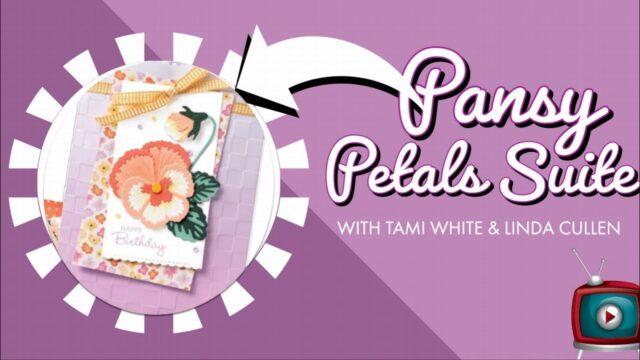 Pansy Petal Slimline Card