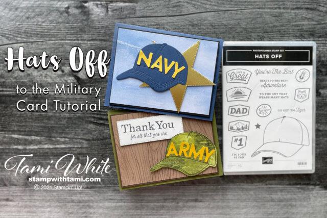 Hats Off Military Card Tutorial photos