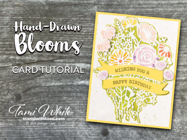 Hand-Drawn Blooms Card Tutorial