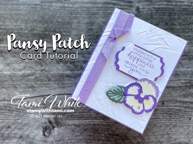Pansy Patch Card Tutorial