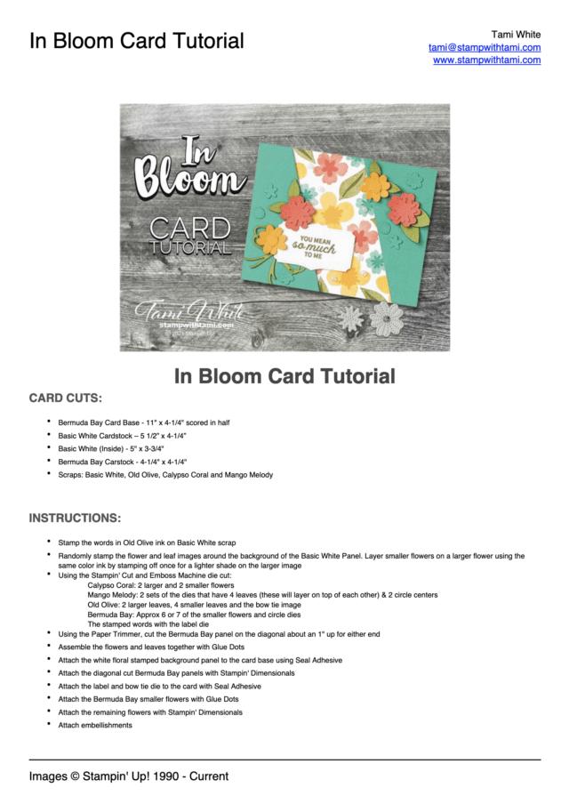 In Bloom Bundle pdf
