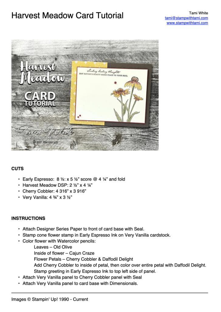 Harvest Meadow Card