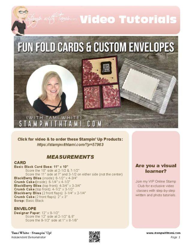 Double Dutch Fun Fold & Custom Envelopes PDF