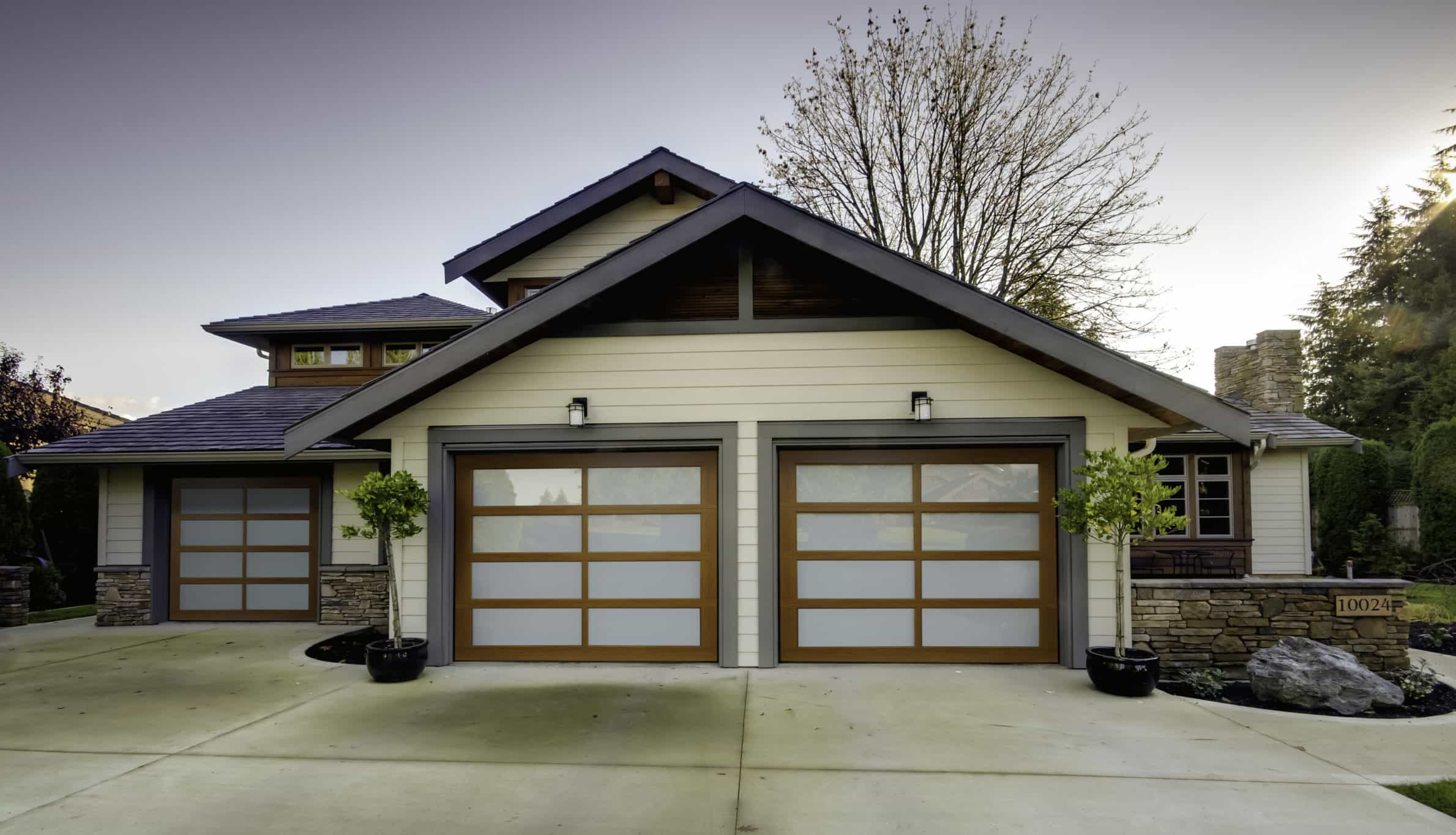Maple Garage Doors Modern Garage Doors Contemporary Style Overhead Doors