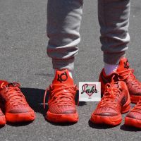 "Nike KD 8 ""Bright Crimson"" On-Feet Look"