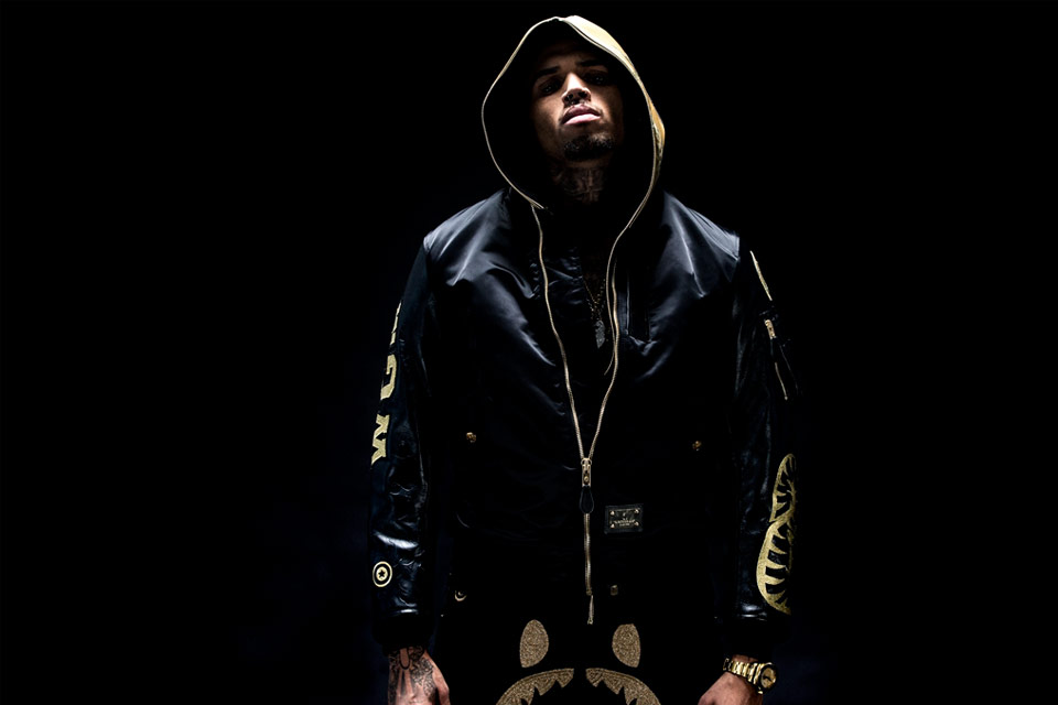 Chris Brown Models BAPE BLACK's Fall/Winter 2015 Collection