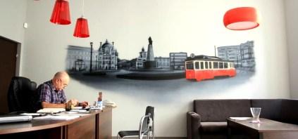 Artystyczne malowanie wnętrz, malowanie graffiti Łódź Lodz grafiti grafitti mural sztuka w domu w mieszkaniu w pokoju dla syna na ścianie 606-582-785