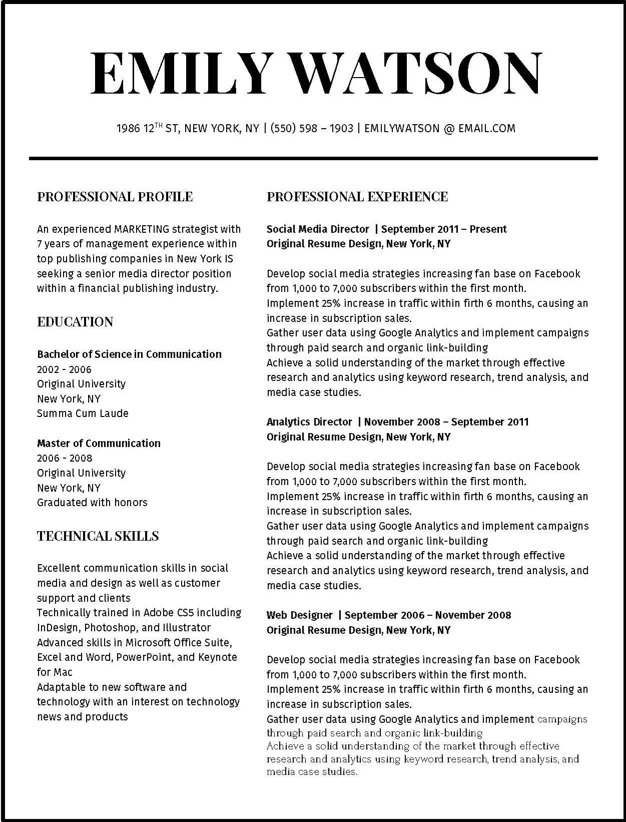 best resume styles 2019