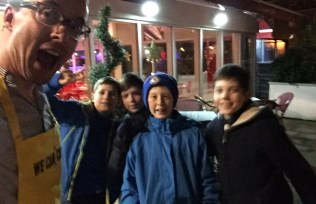 St Andrews Scouts go Ice Skating at Bedford's Swan Hotel