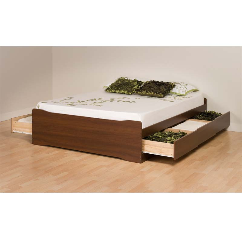 Platform Bed With Drawers Prepac Coal Harbor Full Size Mate's Platform Storage Bed