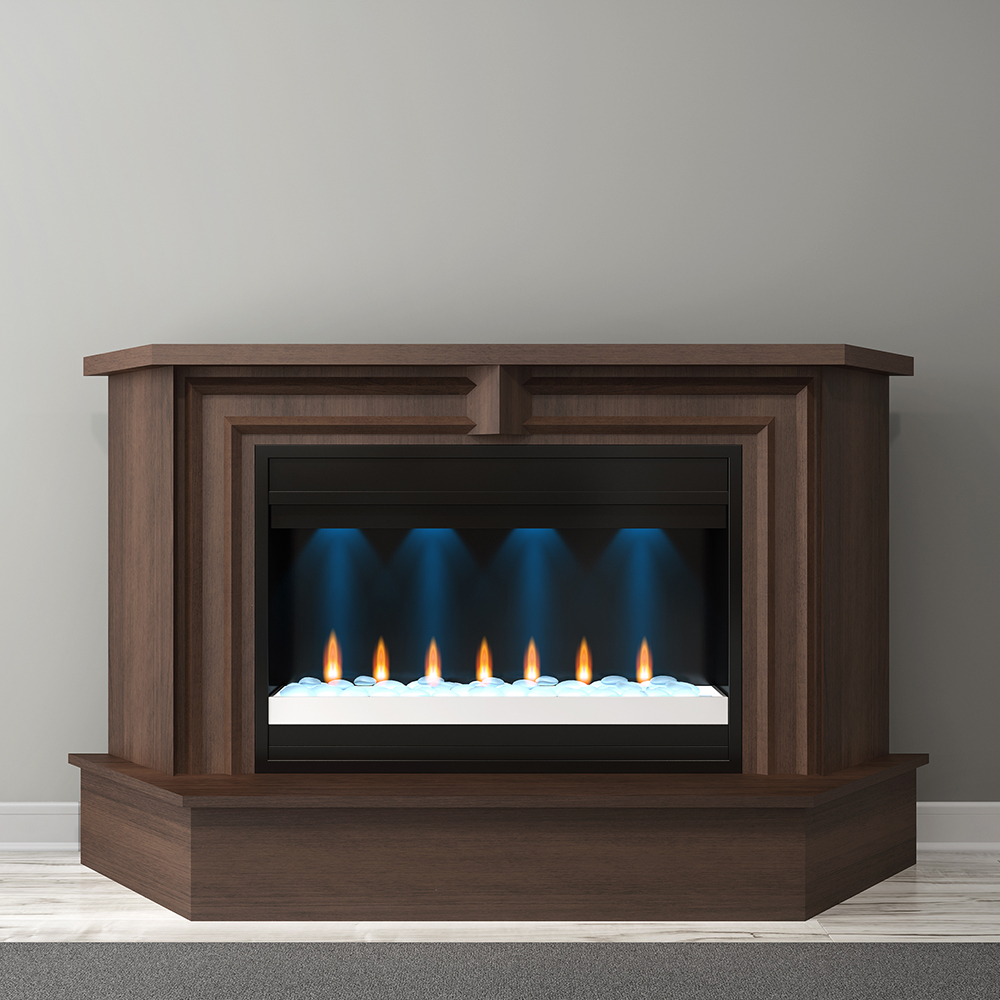 Cherry Fireplace Mantels Furnitech Ft67mmf 67 Inch Transitional Mantel Electric Fireplace In Brazilian Cherry With A Cognac Finish