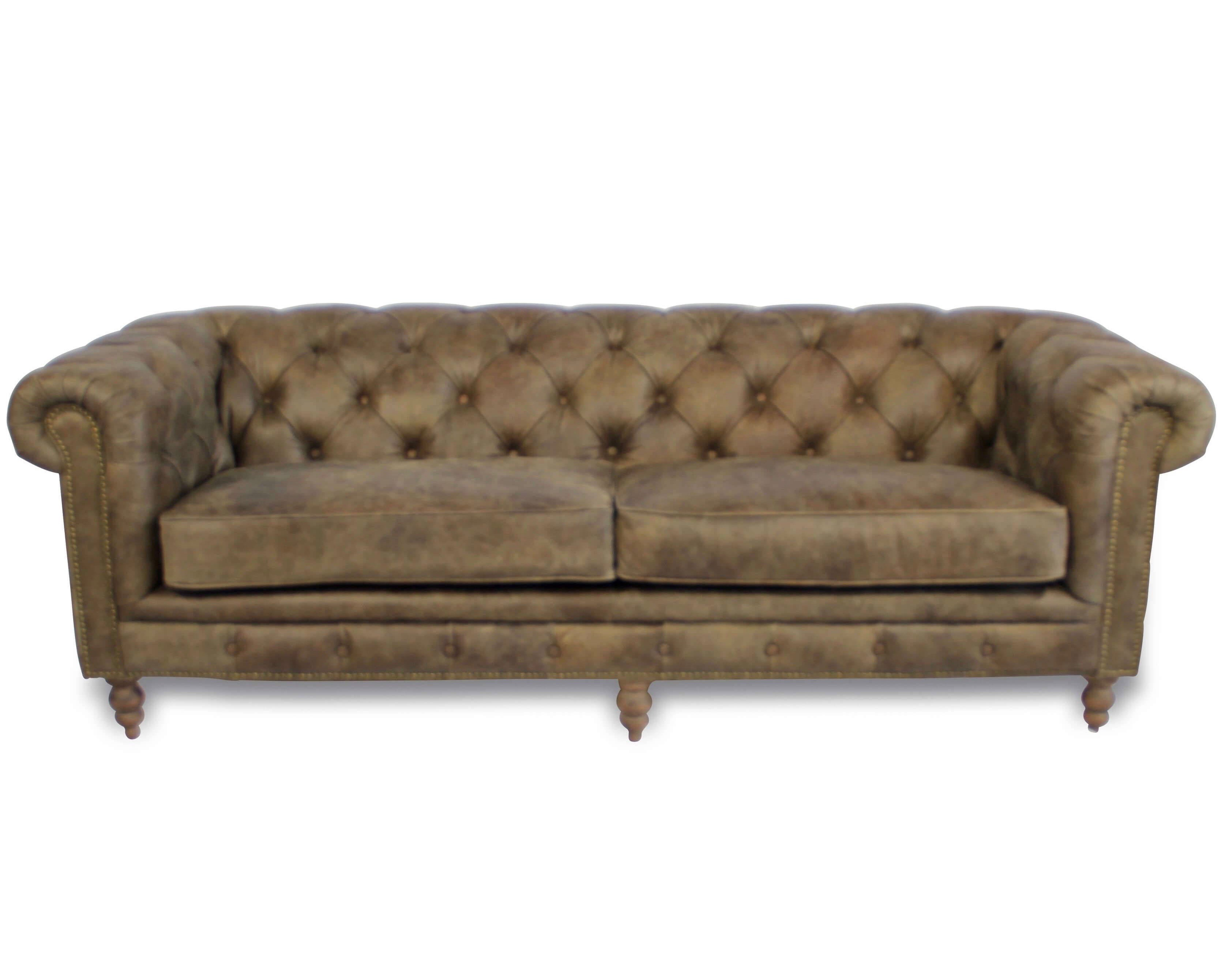 Alte Ledercouch Chesterfield \