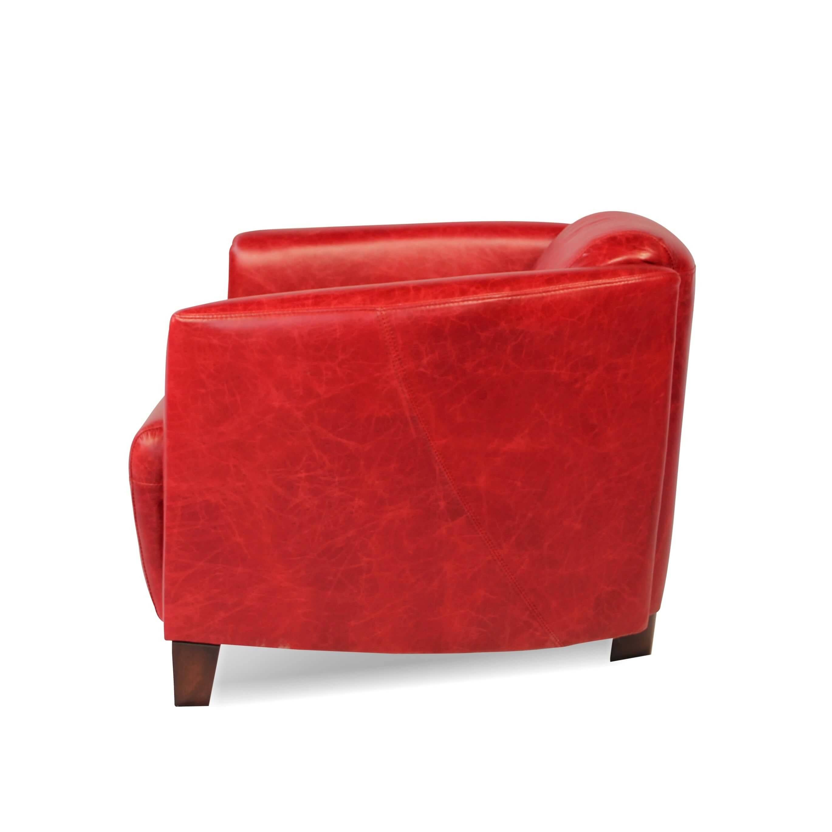 Chesterfield Sofa Leder Chesterfield Rotes Ledersofa Und Zwei Rote Club Sessel