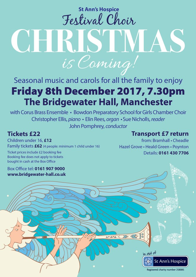 Start your Christmas celebrations in style by joining with us at the Bridgewater Hall