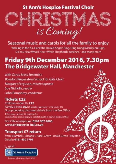 Christmas concert A5 leaflet