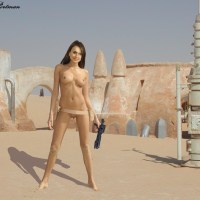 Padme Amidala Naberrie naked in sand town