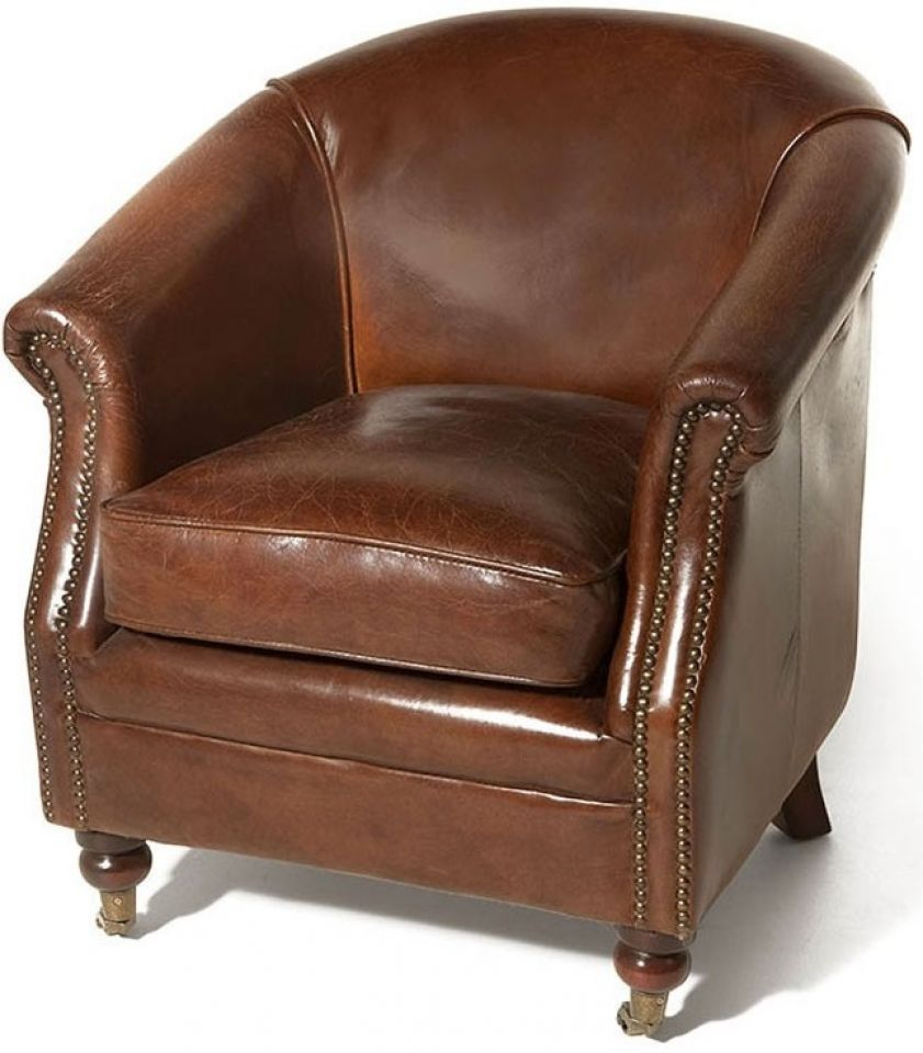 Canape Club Cuir Marron Fauteuil Club Cuir Marron Cigare Hugo