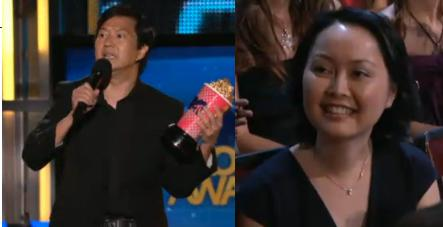 Ken Jeong Tran Jeong Screen Shot Dr. Ken Jeong Thanks Wife Dr. Tran Ho During MTV Movie Awards Photo