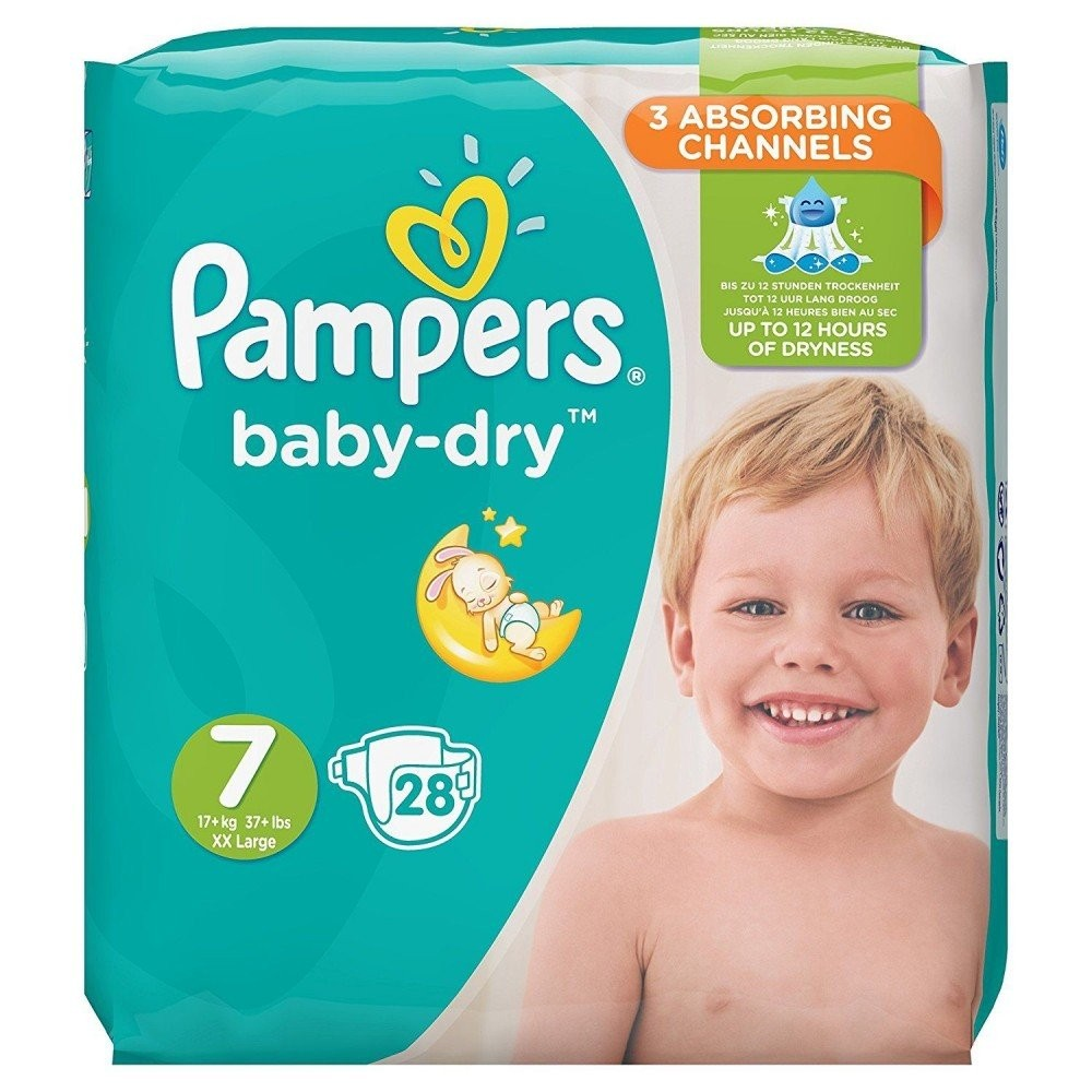 Couche Pampers Prix 28 Couches Pampers Baby Dry Taille 7