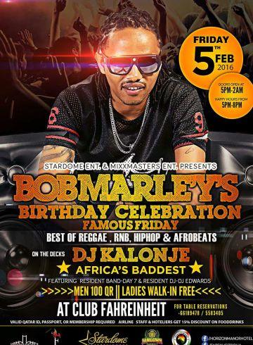 Famous Friday – Bob Marley's Birthday Edition
