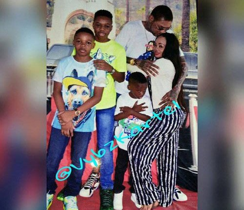 Photos of Vybz Kartel's Family Visit In Jail