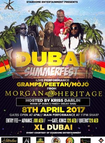 Dubai Summerfest Party Live Performance by Morgan Heritage / Kris Darlin