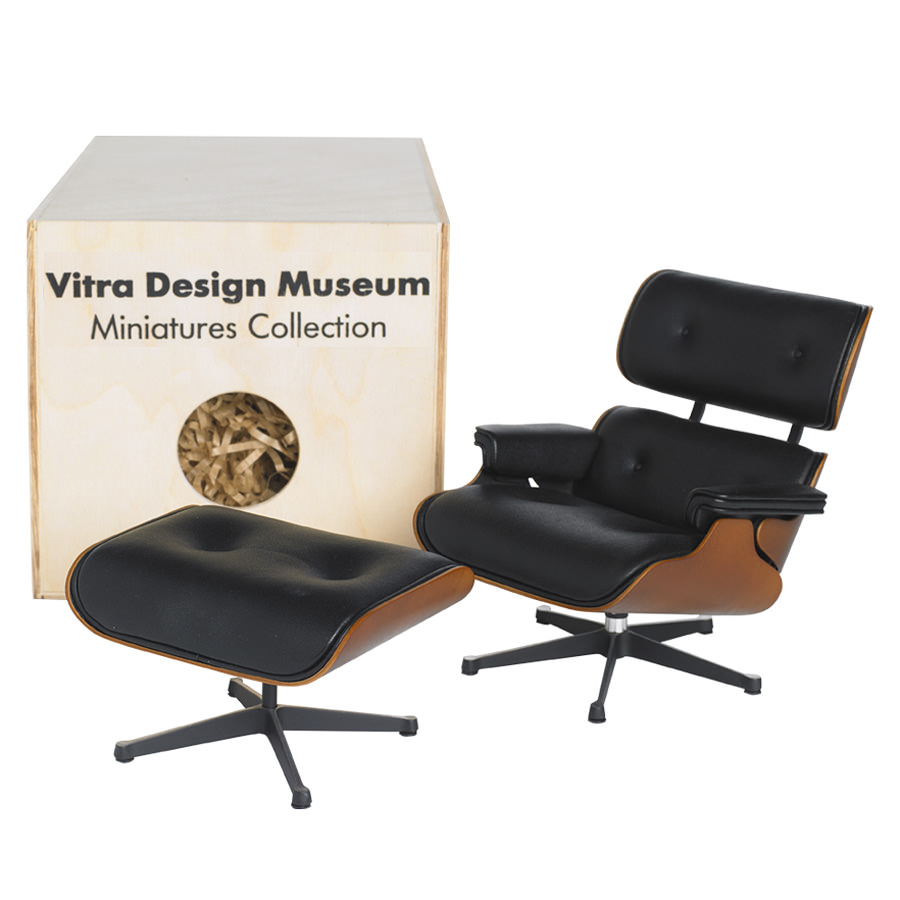 Chaise Design Miniature Vitra Miniature 5 5 Inch Eames Lounge Chair And Ottoman