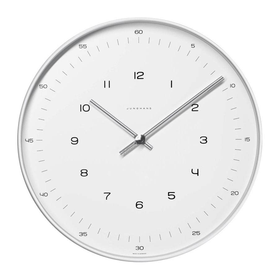 Wall Clock Design Max Bill White Wall Clock With Numbers Open Box Floor Sample Sale