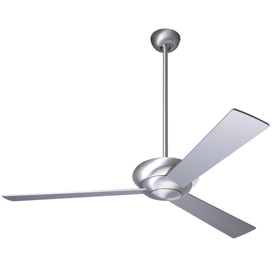 Contemporary Ceiling Fans Altus Ceiling Fan - Brushed Aluminum With Optional Light