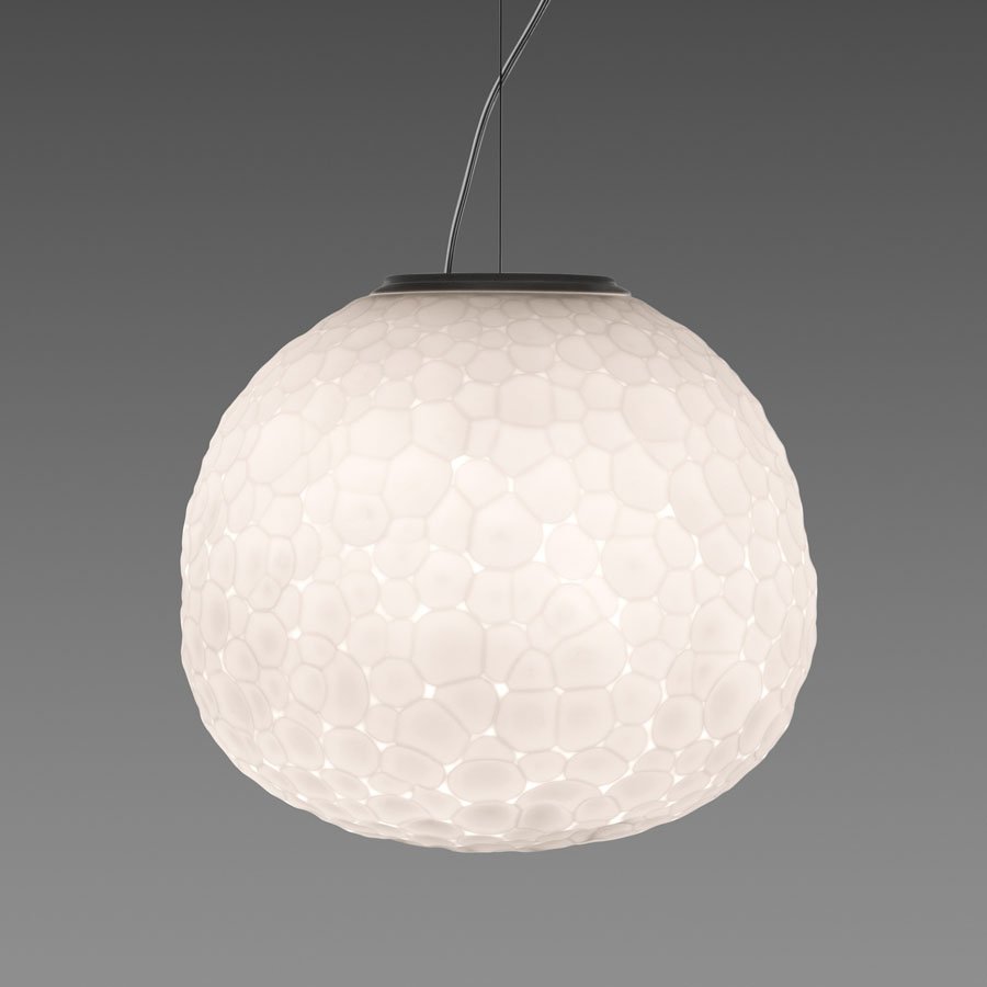 Artemide Suspension Artemide Meteorite Modern Glass Suspension Light By Pio Tito Toso