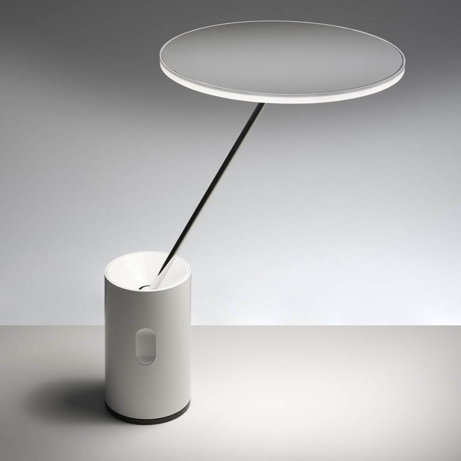 Lampe Artemide Artemide Sisifo Modern Round Table Lamp In White