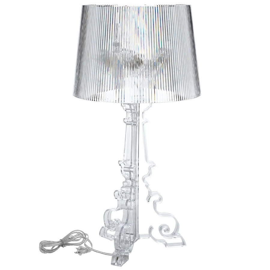 Lamp Kartell Kartell Bourgie Table Lamp With Transparent Shade By Ferrucio Laviani