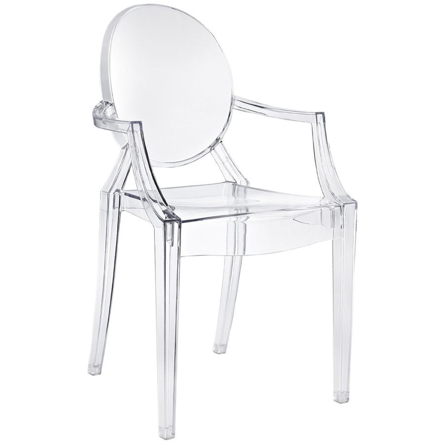 Philippe Starck Ghost Chair Kartell Louis Ghost Modern Clear Dining Armchair By Philippe Starck