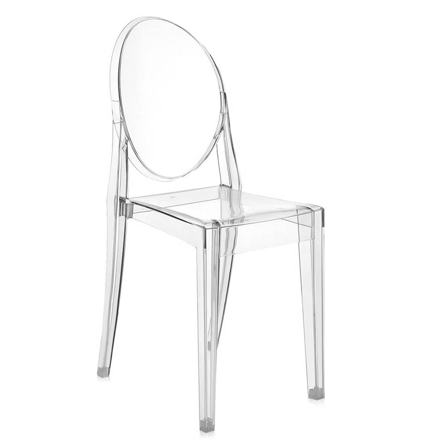 Kartell Victoria Ghost Original Crystal Clear Chair By Philippe Starck Clear Blue Green White Black