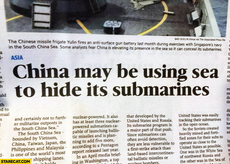 Atheist Quotes Wallpaper China May Be Using Sea To Hide It S Submarines Starecat Com