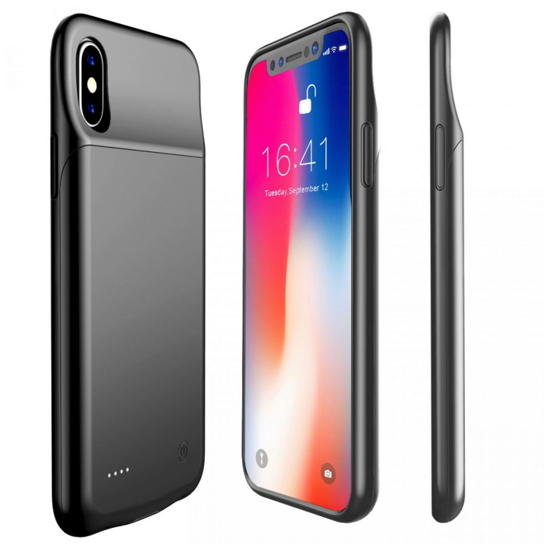 Battery Case For Iphone X Iphone X Slim Battery Case Charging Case Black