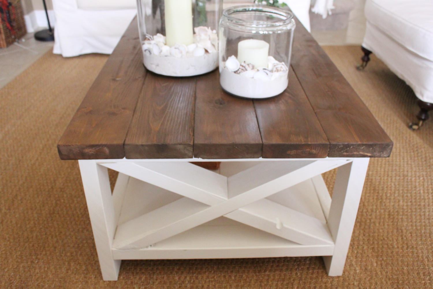 Rustic Beach Coffee Table A New Rustic Coastal Coffee Table Starfish Cottage