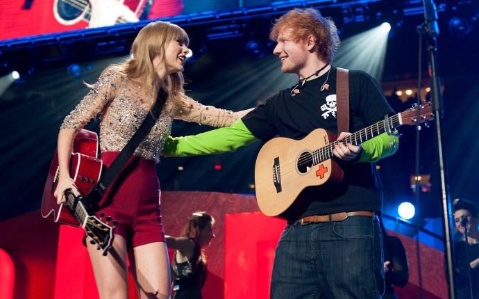 Taylor and Ed at 2012 Jingle Ball