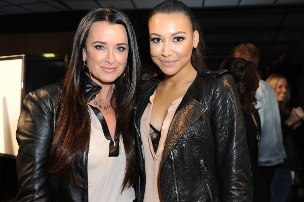 Naya Rivera and Kyle Richards at Kyle by Alene Too Lakers Event