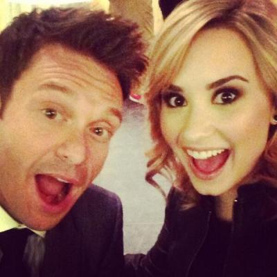 Demi Lovato & Ryan Seacrest at Fox Upfronts