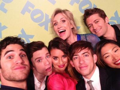 'Glee' cast at Fox Upfronts