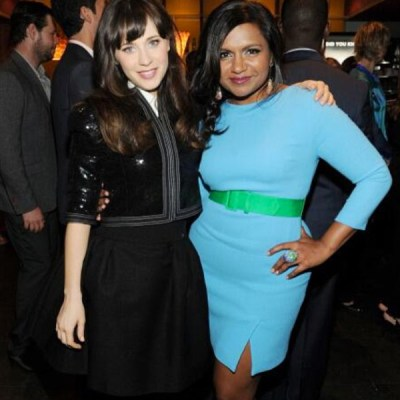 Zooey Deschanel & Mindy Kaling at Fox Upfronts