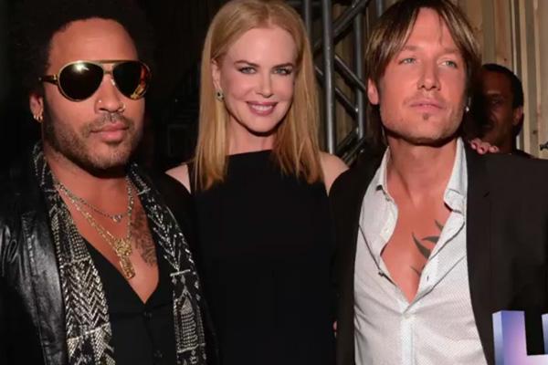Lenny Kravitz, Nicole Kidman & Keith Urban