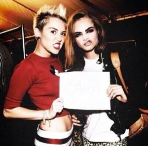 Miley Cyrus & Cara Delevingne