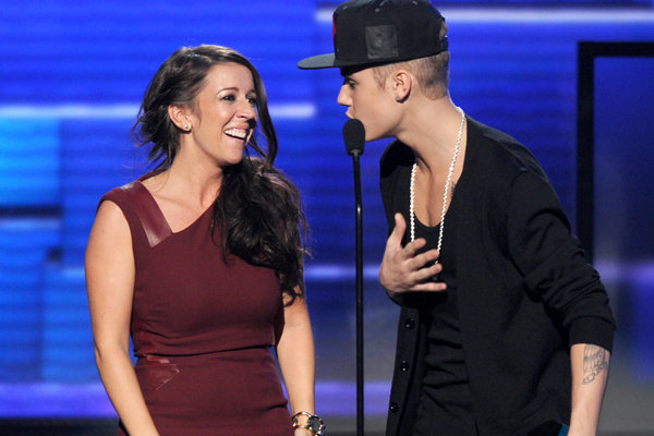Pattie Mallette & Justin Bieber