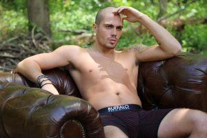 """The Wanted's Max George poses """"In The Buff"""" in outtakes from Buffalo David Bitton's Winter 2013 ad campaign."""