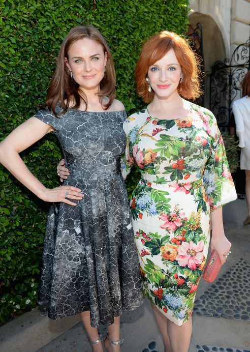 Emily Deschanel & Christina Hendricks