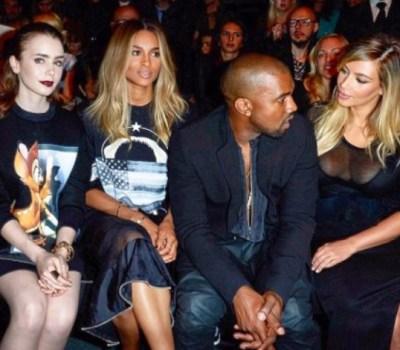 Lily Collins, Ciara, Kanye West & Kim Kardashian