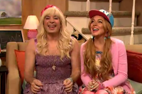Jimmy Fallon & Lindsay Lohan