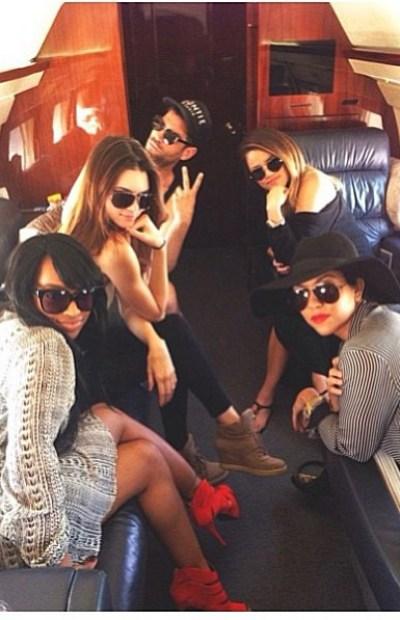 Malika, Khloe Kardashian, Scott Disick, kendall Jenner, Kourtney Kardashian